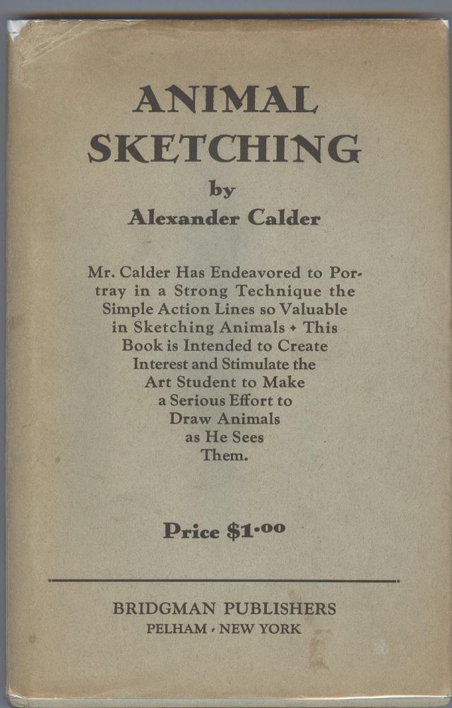 Calder, Animal sketching, coberta