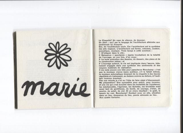 Textes et dessins pour Ronchamp. Paris: Éditions Forces Vives, 1965