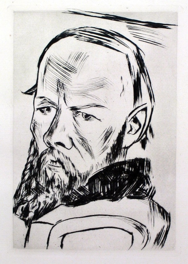 Max Beckmann. Dostojewski II (Dostoievski II). 1921 (edició de 1984)