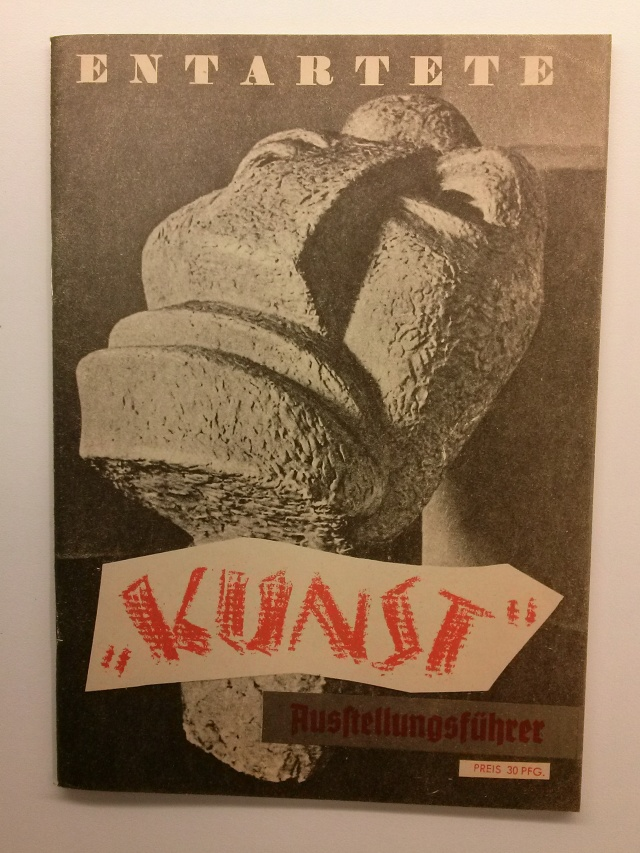 Entartete Kunst: Ausstellungsführer (Art degenerat: guia de l'exposició). Berlin: Verlag für Kultur- und Wirtschaftswerbung, 1937