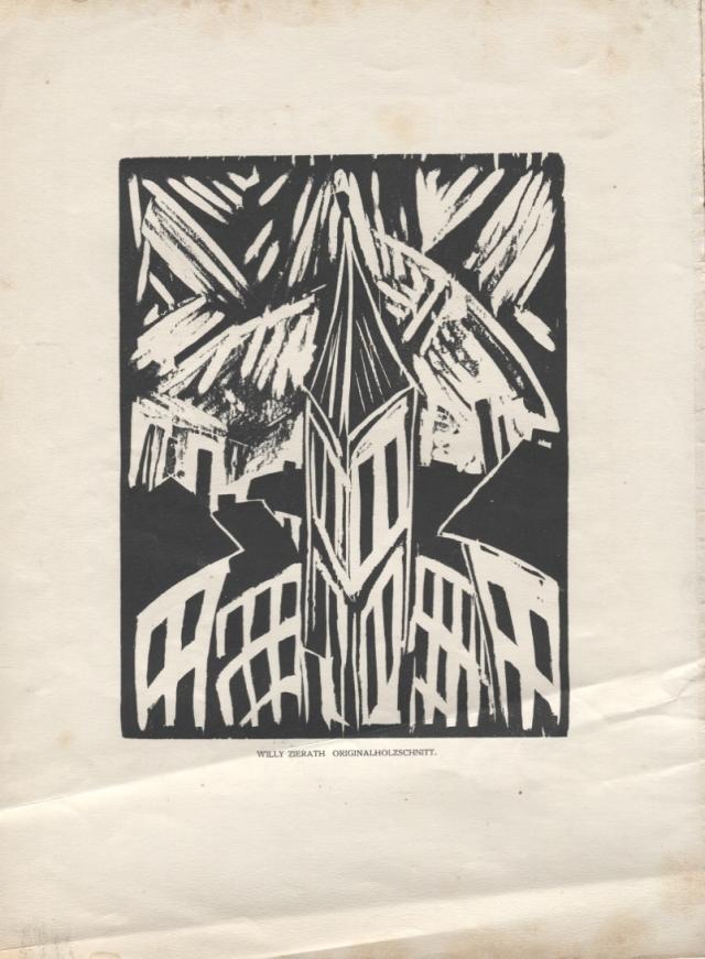 Willy Zierath. Turm (Torre). Das Kunstblatt, número 11; Potsdam-Berlin, 1919