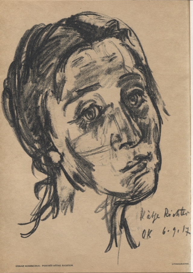 Oskar Kokoschka. Porträt Käthe Richter (Retrat de Käthe Richter). Das Kunstblatt, número 10; Weimar, 1917