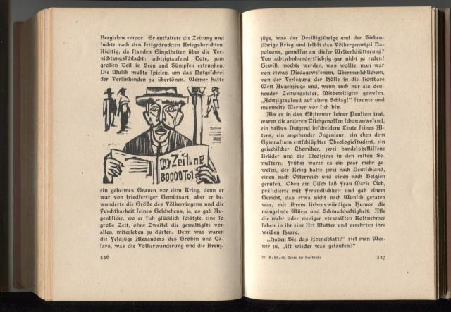 Ernst Ludwig Kirchner. Neben der Heerstrasse (Fora del camí principal). Zuric: Verlag von Grethlein & Co., 1923