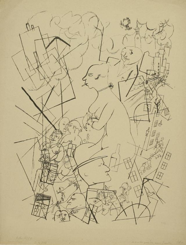 Georg Grosz. Eva (Eva). 1923