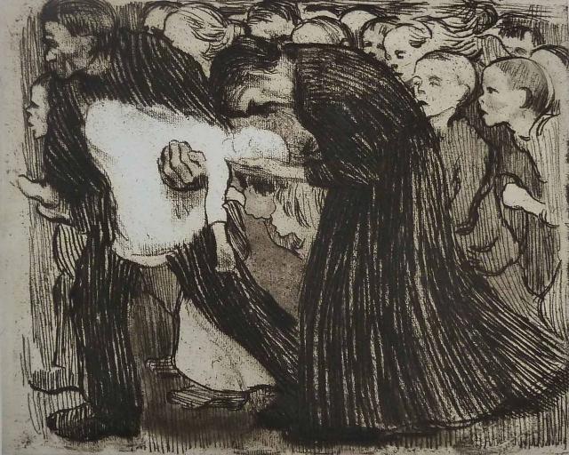 Käthe Kollwitz. Überfahren (Atropellat), 1910 (edició de 1927)