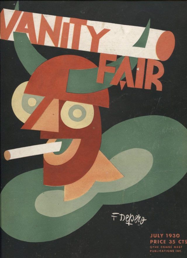 "Fortunato Depero. ""Vanity fair"" (coberta), Nova York, juliol 1930"