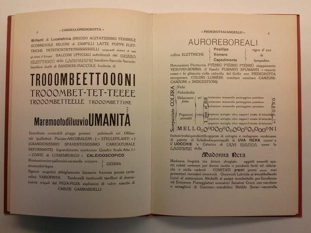 """Francesco Cangiullo. """"Piedigrotta"""". Milà: Edizioni futuriste di Poesia, 1916"""