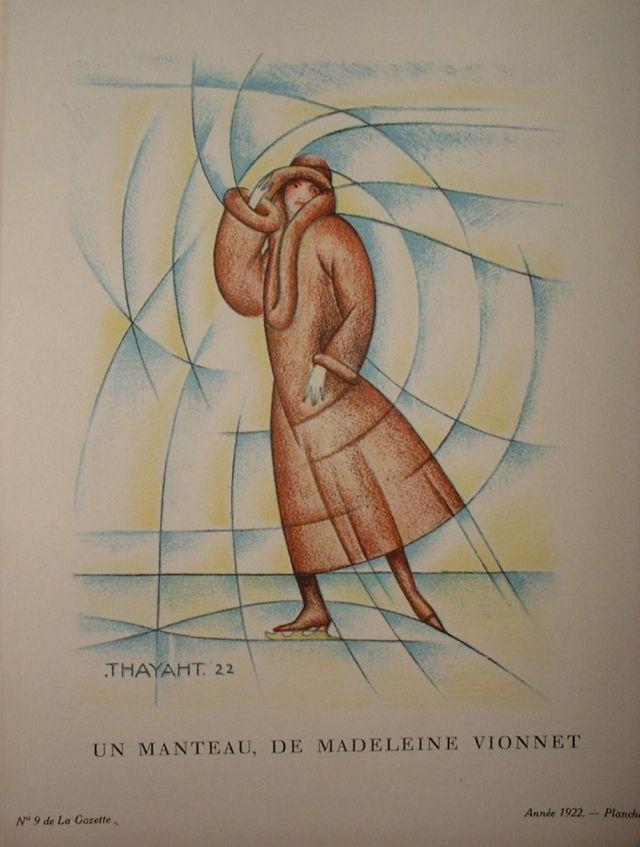 """Thayaht (Ernesto Michahelles). """"Un manteau, de Madeleine Vionnet"""". La Gazette du bon ton, nº 9, Paris, 1922"""
